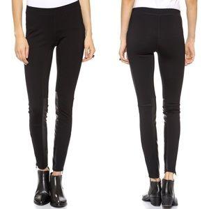 Madewell Pieced Ponte Pants in True Black